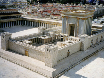 This is what the Temple in Jerusalem might have looked like before the Romans tore it down in 70 CE. Today, the Dome of the Rock mosque is at this location, known as the Temple Mount. The site is extremely important to Judaism, Islam and Christianity. (Photo: Juan R. Cuadra)