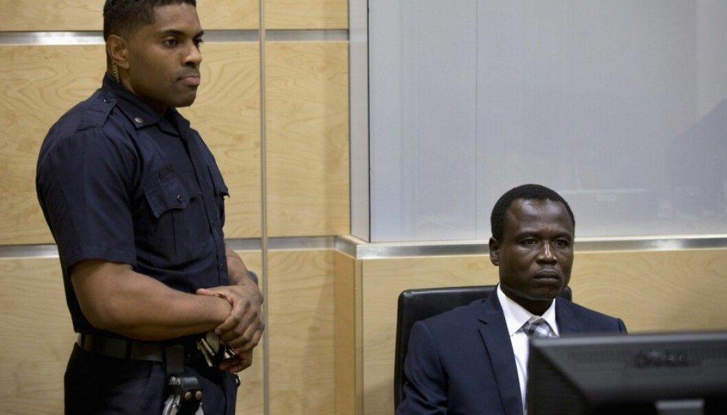 Dominic Ongwen from Lords Resistance Army (LRA) present at the International Criminal Court (Foto: REUTERS/NTB scanpix)