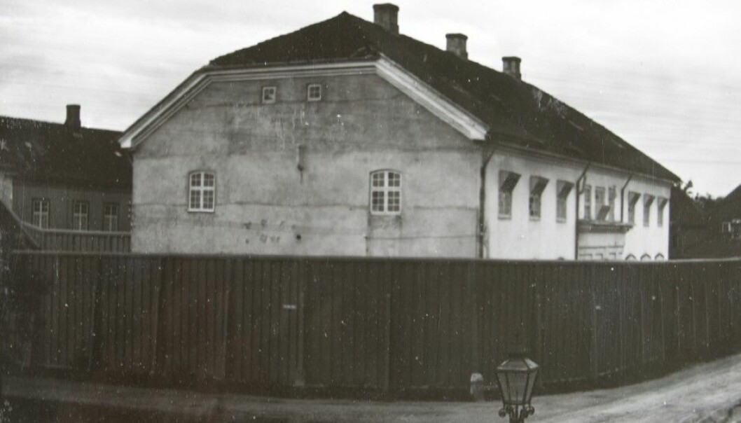 Dangerous and particularly difficult insane men from all across Norway were sent to Kriminalasylet, Trondheim's criminal asylum. This photo shows how it looked around 1910. (Photo: Archive of Kriminalasylet and Reitgjerdet psychiatric hospitals)