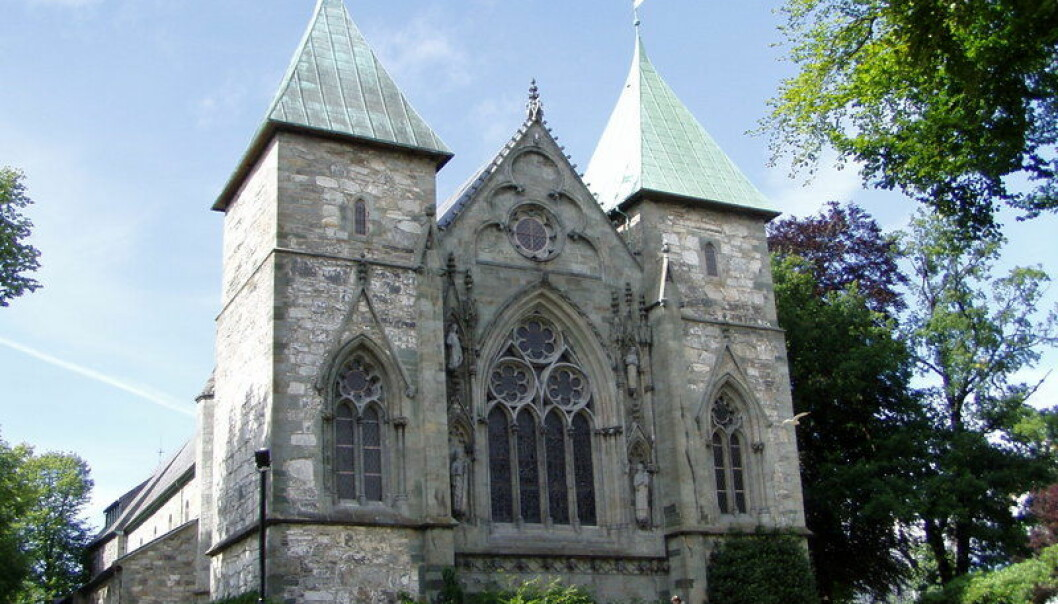The skeletons were discovered beneath the Stavanger Cathedral in 1968 and are now being re-examined. (Photo: Wikimedia Commons/Dundak)