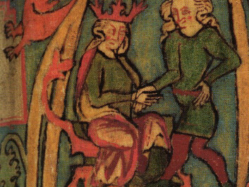 An illustration showing Harald the Fairhaired, from the Icelandic manuscript Flateyjarbók, from the Middle Ages (Photo: Flateyjarbók / Public Domain)