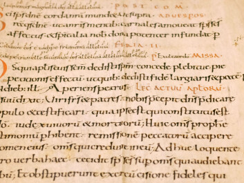 One of the oldest documents that Weidling and Karlsen have found. They reckon this one comes from the mid-11th century, making it nearly 1000 years old. (Photo: Silja Björklund Einarsdóttir/forskning.no)