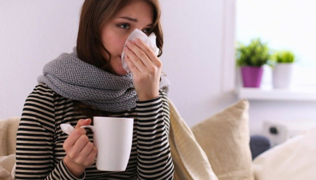 There's no harm in drinking a couple extra cups of tea to soothe a sore throat. But if you have a respiratory infection and no fever there is no need to drink more than usual. (Photo: Shutterstock / NTB scanpix)