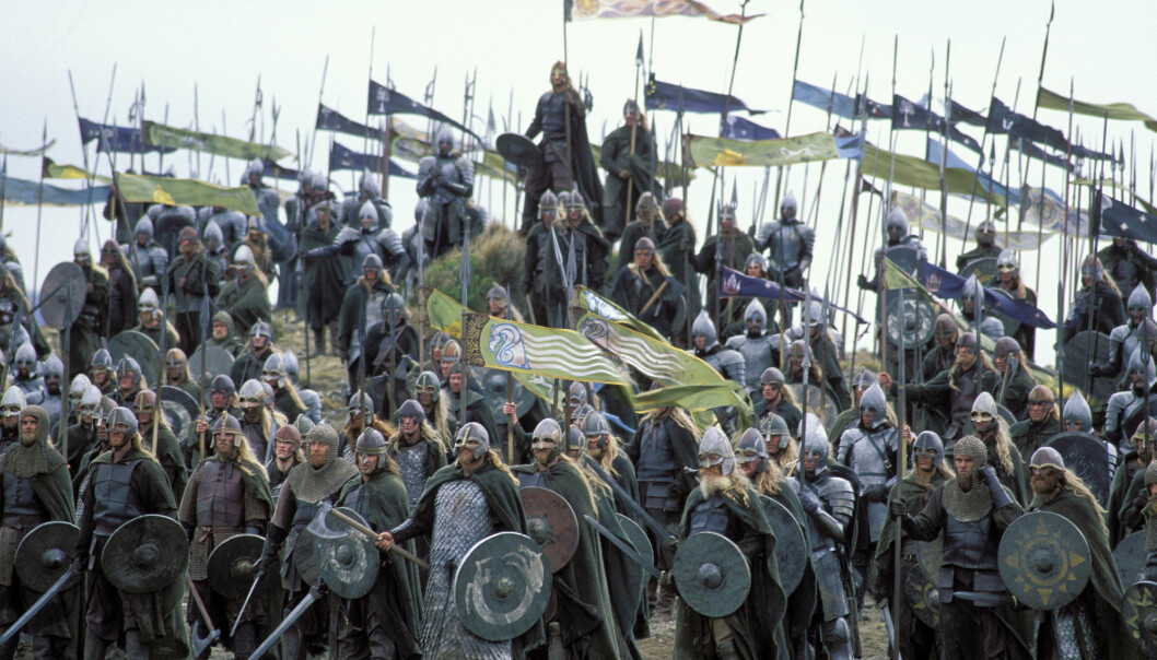 A picture from the movie Lord of the Rings: Return of the King, based on Tolkien's book of the same name. (Photo distributed by: SF Norge)