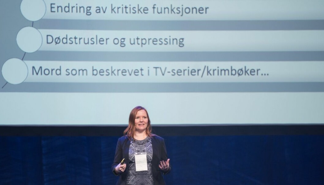 "SINTEF researcher Marie Moe has a pacemaker. To her surprise, she discovered that it can be hacked. She recently held a presentation about the dangers when ""everything"" is connected to the Internet. (Photo: Andreas Buarø)"