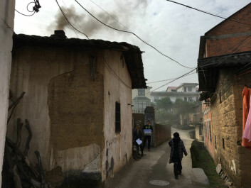 In many rural areas, household produced air pollution from cooking and heating with solid fuels comes in addition to pollution from industry. (Copy right: Airborne. Photo: Annica Thomsson)