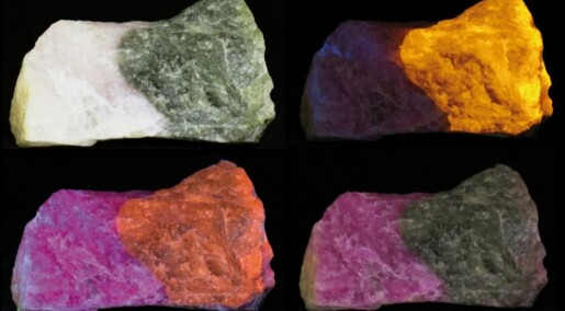 This rock switches colours in an instant