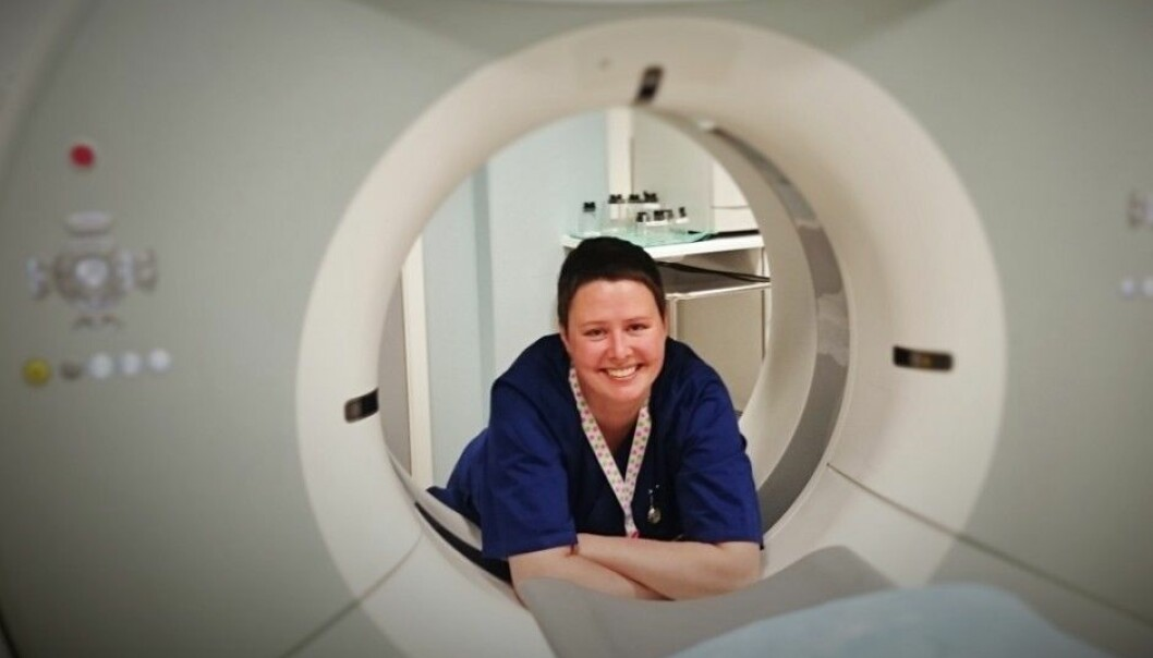 Heidi Økland is all too familiar with excruciating back pain – at times so intense that she couldn't walk. Økland was diagnosed with Modic changes on an MRI scan in 2012. Now she is back working half-time as a radiographer and is helping to launch a Modic association in Norway. (Photo: Private)