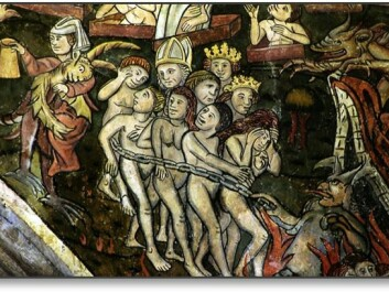 A picture showing Judgement Day from St. Thomas Beckett Church, in Salisbury, England. The picture is thought to be from the 1400s.