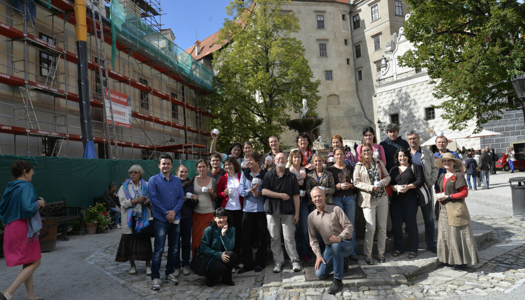 'This course is about recognising opportunities. Seeing the real value of the place and taking advantage of it,' says Jiří Dlouhý (in front) and Rhys Evans (middle), together with course participants. (Photo: Private)