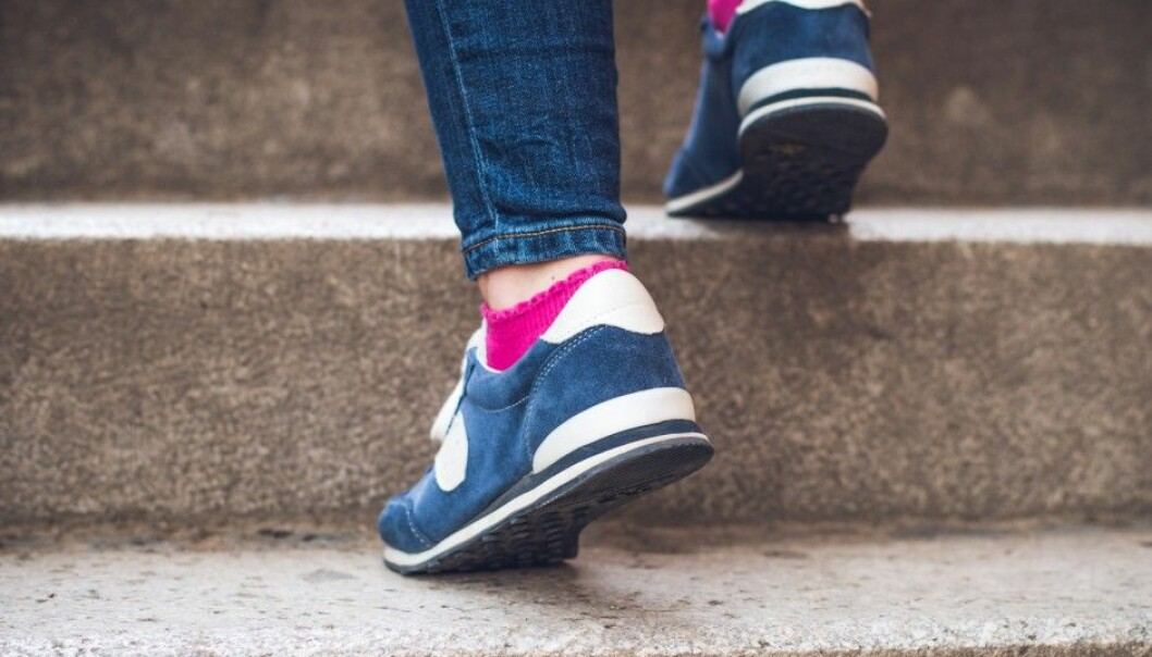 A little extra bending of the knees results in more exercising effect on the way up the stairs. (Photo: Vitezslav Malina, Shutterstock / NTB scanpix)