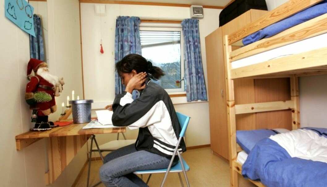 A girl at the Hvalstad Reception Centre for single minors. The picture was taken in a different context in 2005. (Photo: Bjørn Sigurdsøn / NTB scanpix)