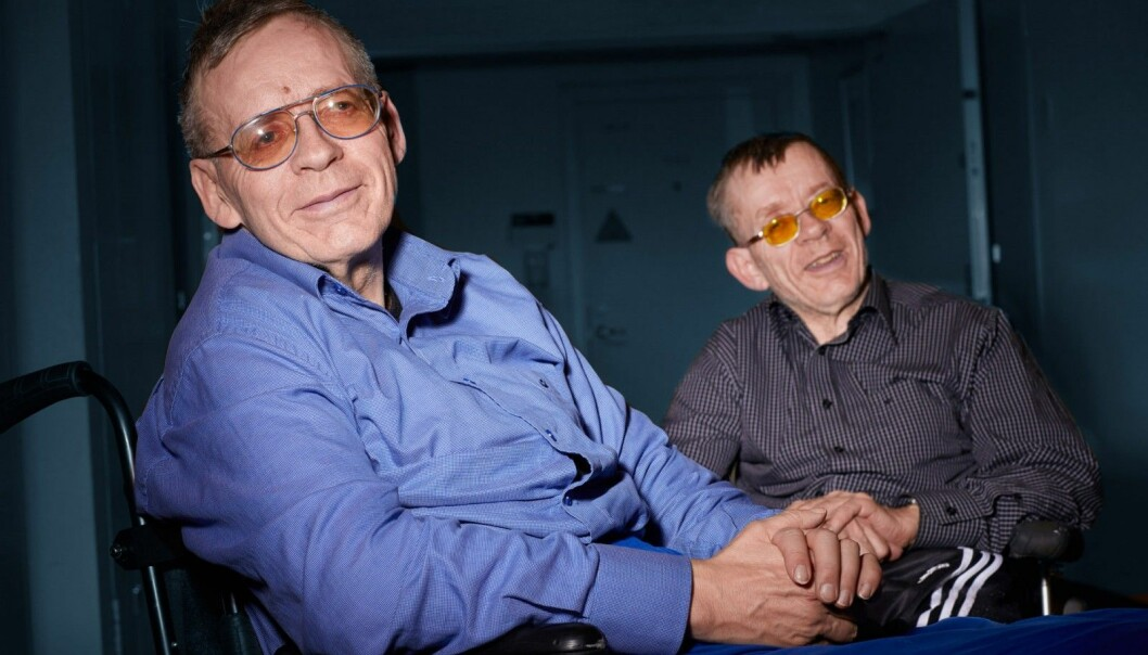 Bjørn and Tor OIsen are twin brothers who share a disease that almost no one else in the world has. (Photo: Erik Norrud)