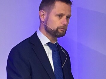 """""""Antibiotic-resistant bacteria know no borders, and are spread by people, food and animals,"""" says Bent Høie, Minister of Health and Care Services at the Norwegian Cancer Society this week. (Photo: Anne Lise Stranden/forskning.no)"""