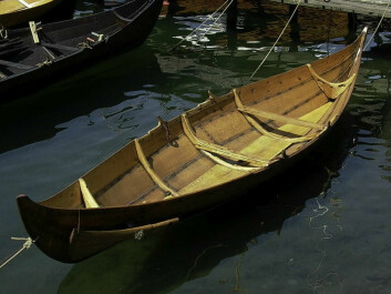 Example of a typical Nordic-type boat, a copy of Gokstadfæringen. (Photo: Knut Paasche, NIKU)