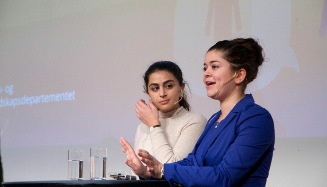 Nancy Herz and Sofia N. Sour are among the 'shameless girls' who have placed debates about cultures of honour, gender roles and social control of women in minority communities on the agenda. Foto: Justis og beredskapsdepartementet