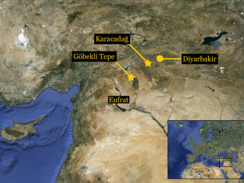 The cradle of agriculture could be placed in southeastern Turkey, 10,000 years ago (Map: Per Byrhing)