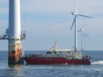 Shoreline designs software that can make operating and maintaining offshore wind turbines more efficient. Here we can see wind farm maintenance in practice. (Photo: Simen Malmin)