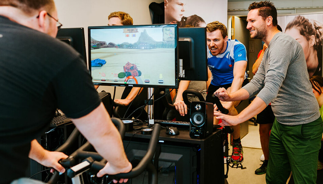 Pedal Tanks combines gaming and training. It was created by people who play a lot themselves and know what works. (Photo: Julie G. Solem, NTNU)