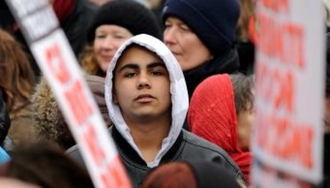 Participants in an anti-racism protest in Amsterdam in 2008. (Photo: iStockphoto)