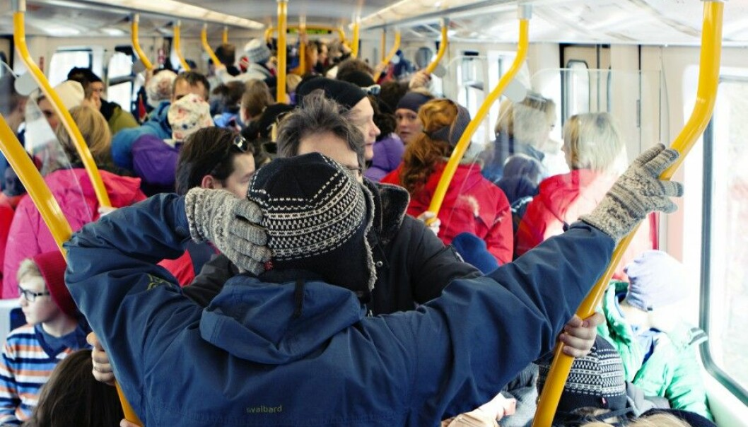 Many who have mental disorders find crowding such a problem that they shun public transport. (Illustrative photo: Charlotte Sverdrup/Ruter pressefoto)