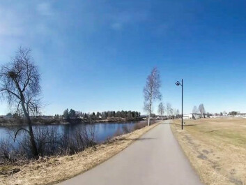 This is where the study subjects took their walk. (Photo: Høgskolen i Innlandet)