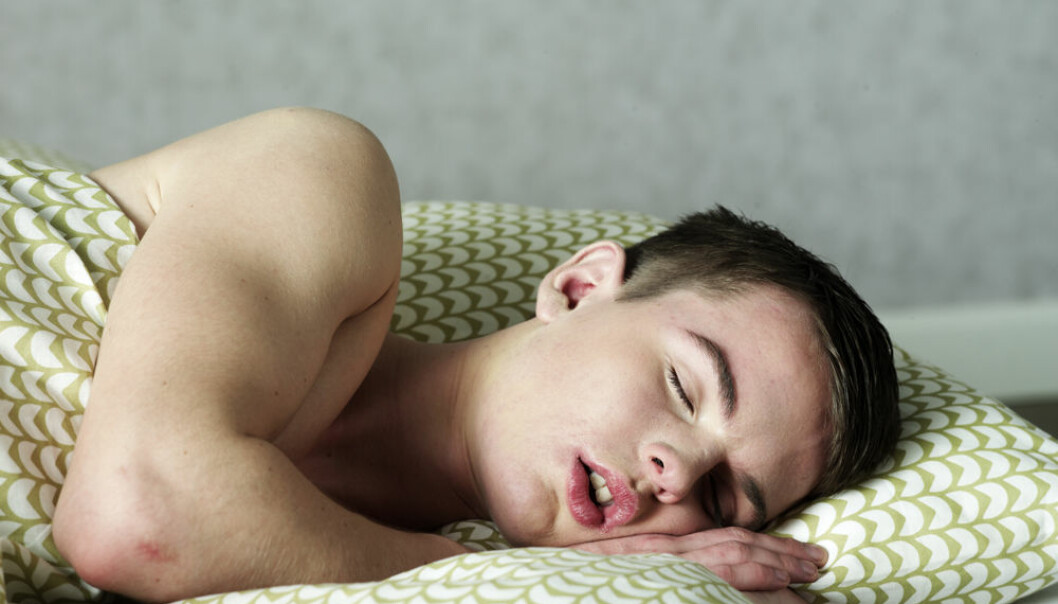 Those of us who sleep with our mouths open are more likely to awaken with a bad taste. (Photo: Colourbox)