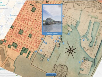 This is what the overlay of the historic map on top of Google Maps looks like. (Screenshot: Port of Oslo 1798 / Google)