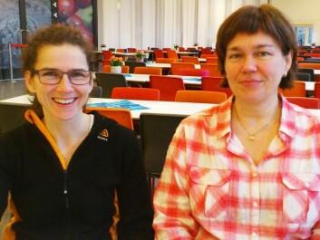 Anne-Sofie Furberg (left) at the Department of Community Medicine, and Professor Johanna Sollid of the Department of Medical Biology at the University of Tromsø. (Photo: Andreas R. Graven)