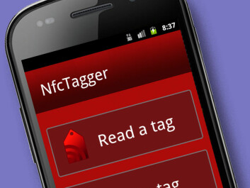 The app NfcTagger reads and writes the contents of tags. (Figure: Department of Computer Sciences, University of Tromsø)
