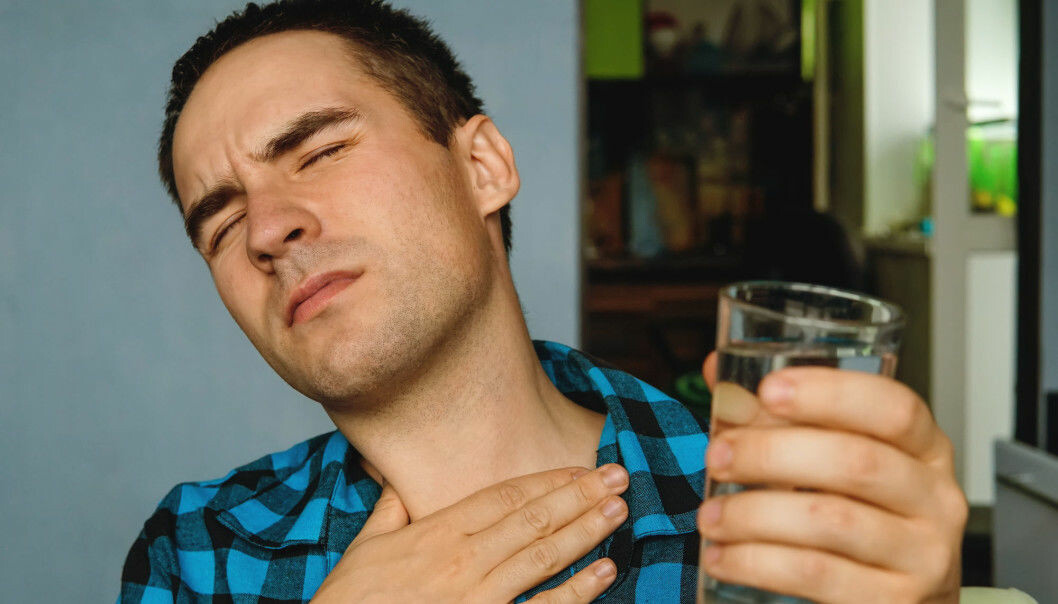 Between 10 and 20 percent of people in the Western world suffer from acid reflux, where stomach acid finds their way back up into the food pipe. (Photo: Shutterstock / NTB scanpix)