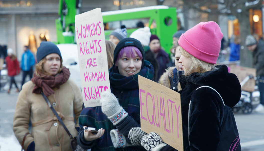The Women's March, Stockholm, Sweden, 2018. (Photo: Shutterstock)