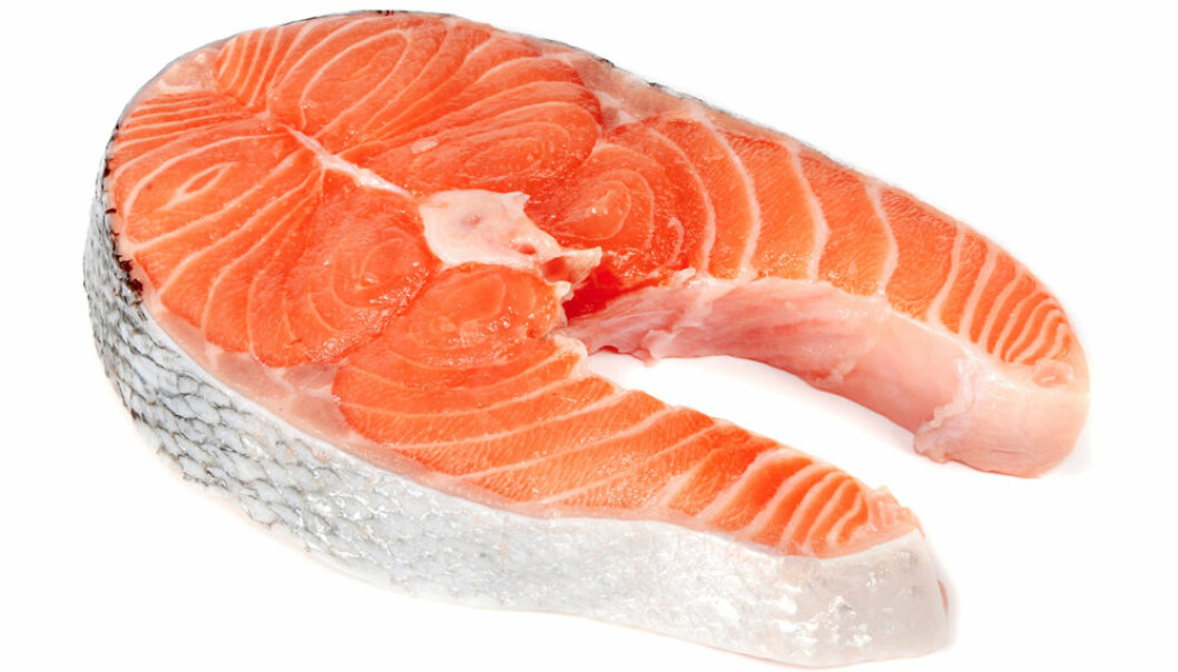 There is a larger amount of omega-6 in farmed salmon than in wild salmon. (Photo: Colourbox)