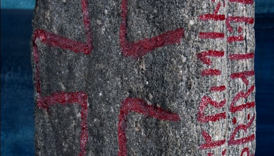 The runes are written in the younger runic alphabet. (Photo: Åge Hojem / NTNU Museum of Natural History and Archaeology)