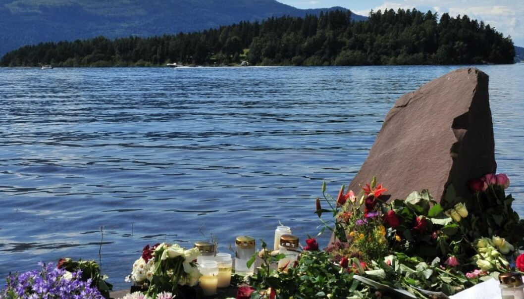 Research will inevitably focus on persons affected by a right-wing extremist's car bomb attack in downtown Oslo and shooting spree at a Labour Party Youth summer camp at Utøya island (pictured above) last summer. (Photo: Paal Sørensen/Wikimedia Commons)