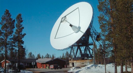 3D radar study of northern lights