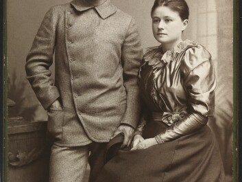 Eva and Fridtjof Nansen as newlyweds in 1889. (Photo: Christian Gibsson/National Library)