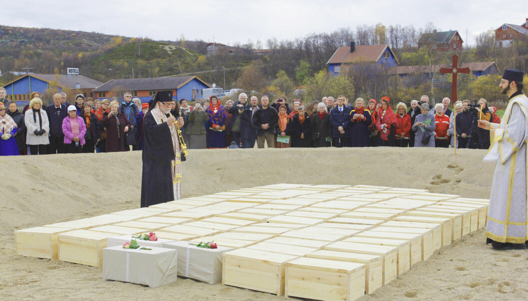 The controversial reburial of 94 skeletons took place in September 2011. Skeletons were buried according to Orthodox Christian tradition. (Photo: Rolf Arvola)