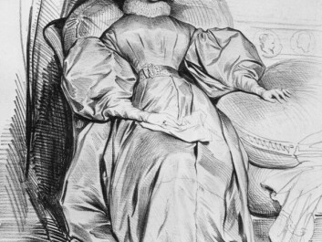 Fashion promotes modern time, Wallenberg believes. The photo shows a lithograph from 1835 of a young woman with an outfit within the Biedermeier-style.