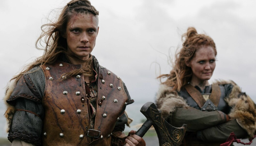 Alfhildr, played by Krista Kosonen and Urd, played by Ágústa Eva Erlendsdóttir both speak on the north part of the series. (Photo: HBO Nordic)