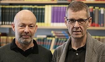 COLLABORATION: Jon Vidar Sigurðsson and Hans Jacob Orning are both Professors of History at the University of Oslo. (Photo: Fillip-André Baarøy)