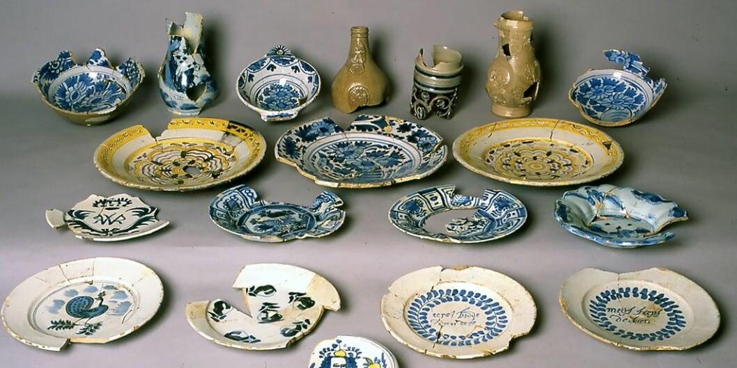 Stoneware from around 1700. This was thrown aside. (Foto: NIKU)
