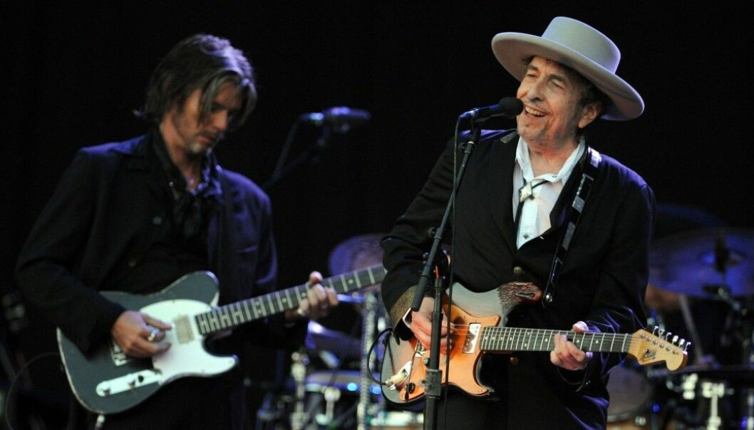 The music legend Bob Dylan, shown here at a 2012 music festival in France. (Photo: AFP)