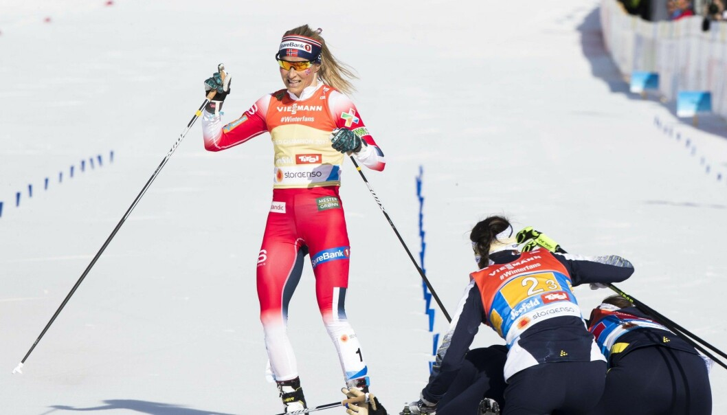 Therese Johaug brings home a silver for the Norway women's relay team during the World Cross-Country Ski Championships in Seefeld in February. Sweden won. (Photo: Terje Pedersen / NTB scanpix)
