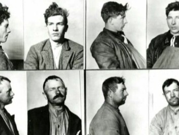 Four alleged alcohol smugglers caught by police in Strømstad during Norwegian Prohibition. Two were Norwegian and two were Swedish: a fisherman, a sailor, a farmer, and a stonemason, according to police records. (Photo: Swedish Police Authority Archives, Strømstad)