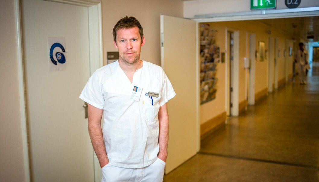 Study participants receiving the drug isatuximab lived five months longer without a relapse than control group participants, says Fredrik Schjesvold, head of the Oslo Myeloma Center at Oslo University Hospital. (Photo: Øystein Horgmo / UiO)