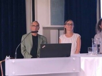 Researchers at OsloMet presented preliminary findings from a research project that examined what characterizes elders who still work. From the left: Per Erik Solem, Robert Salomon, Katharina Herlofson and Tale Hellevik. (Photo: Siw Ellen Jakobsen)