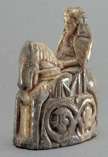 This chess queen was carved out of walrus ivory and was made around the year 1250. (Photo: Sweden's National Museum in Pictures, Andreas Hasselgren)