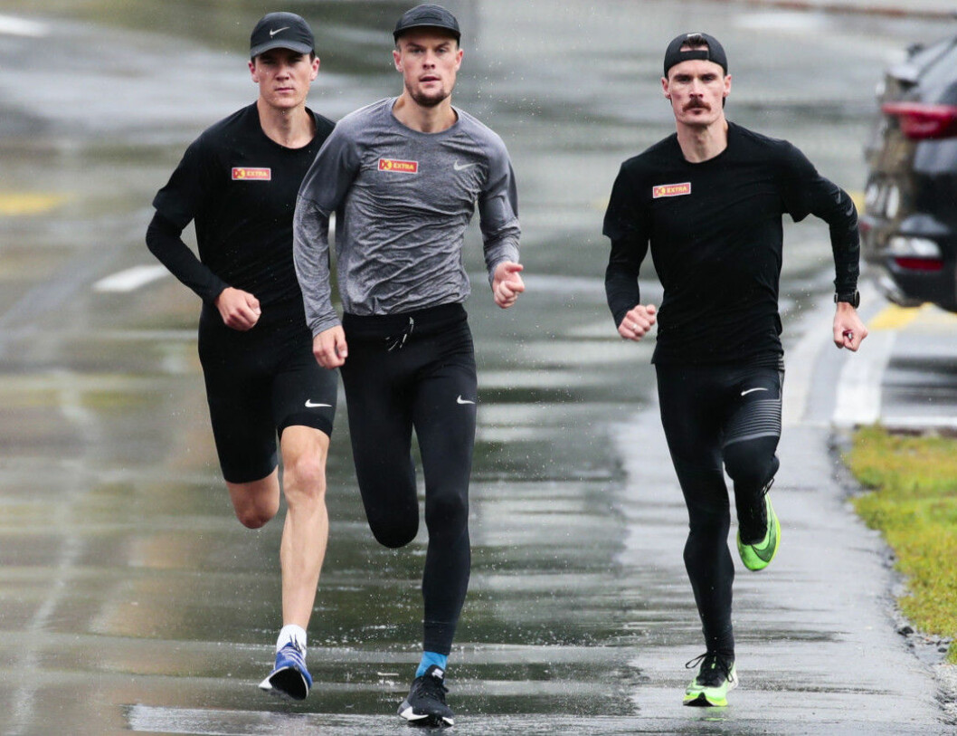Jakob, Filip and Henrik Ingebrigtsen train very hard to win. But training is only part of the reason for the brothers' success, one researcher says. (Photo: Lise Åserud / NTB scanpix)