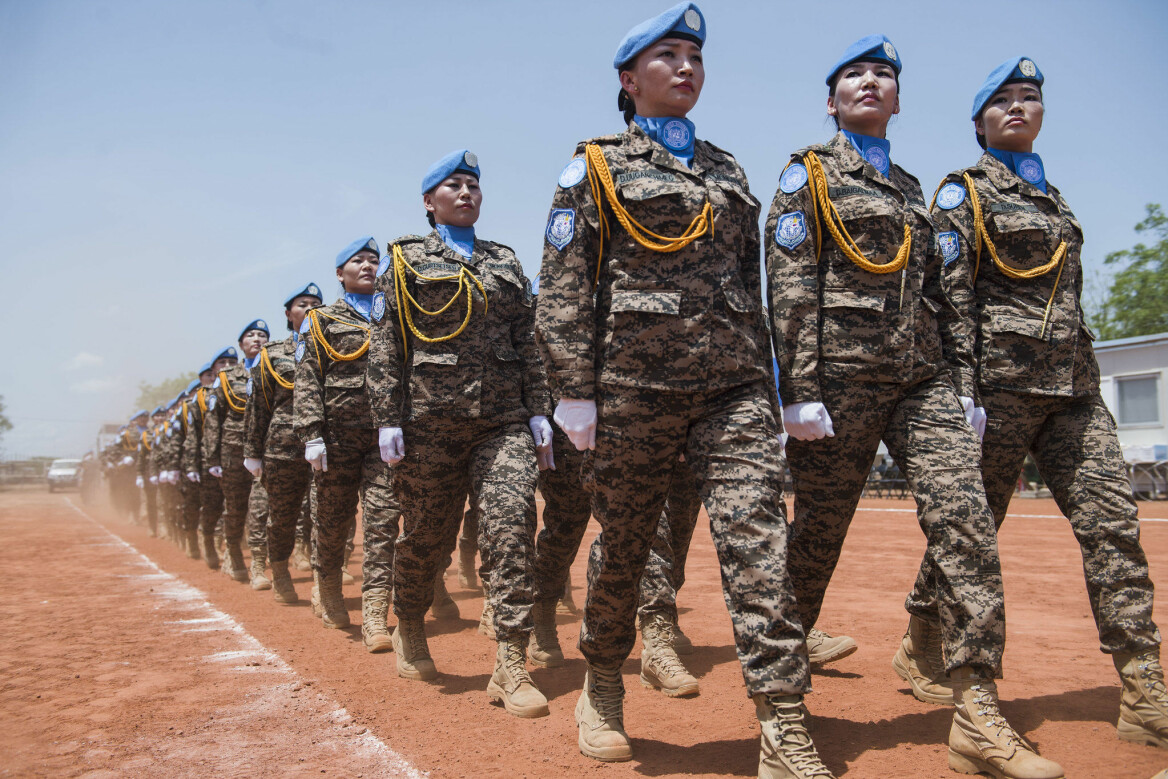 Mongolian peacekeeping team who make an important contribution to improving communication and engagement with the local community in Bentiu. (Photo: UNMISS/Amanda Voisard / Flickr CC BY-NC-ND 2.0)